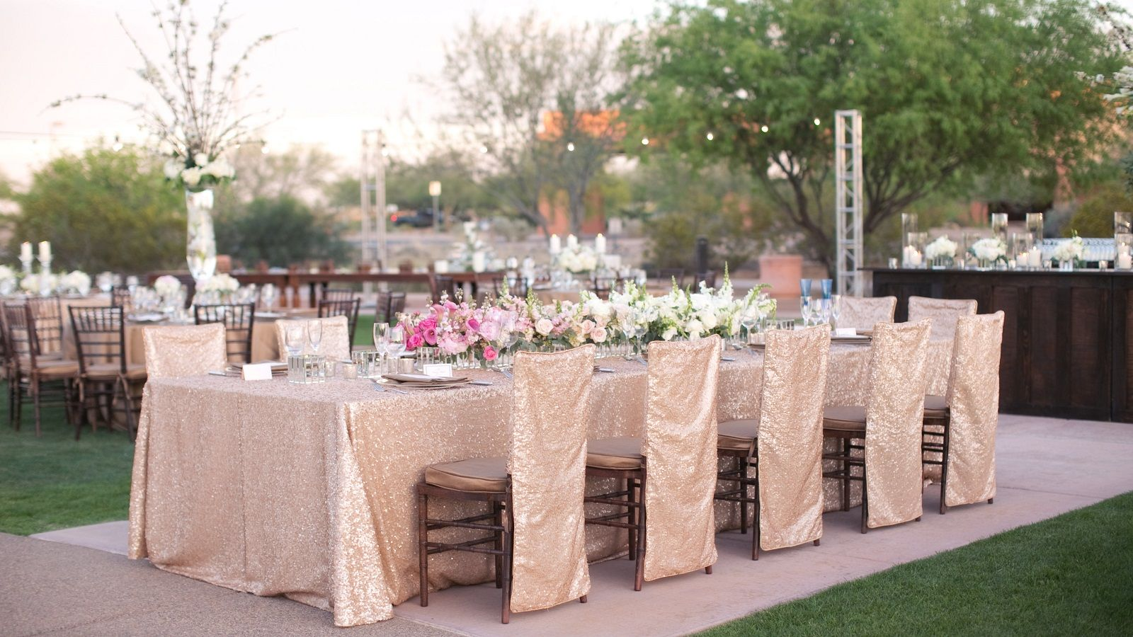 Phoenix Resort Wedding Venue - table set up